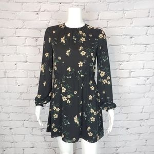 Sunday Best Black Floral Mini Dress